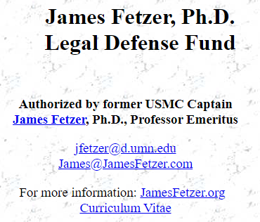 james fetzer legal defense fund