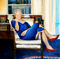 clinton blue dress