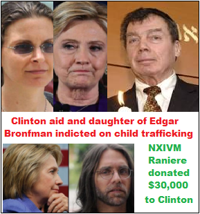 nxivm, clinton, bronfman, raniere, child sex cult